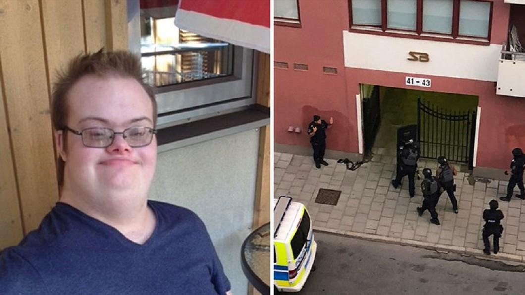圖/翻攝自Expressen推特 「連蒼蠅都不會傷害」 唐氏症男持玩具槍遭警擊斃