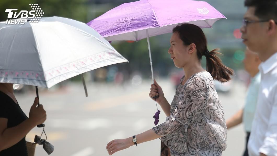 圖/中央社 各地留意午後雷雨 花東高溫恐飆破36度