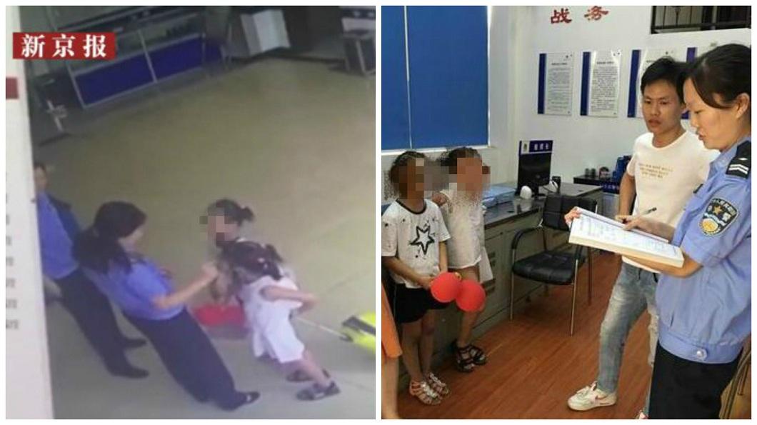 湖北一名9歲女童因不滿父母親有了弟弟後就冷落他,帶著表妹一起離家出走。(圖/翻攝自新京報) 怨父母只愛弟弟 9歲女帶表妹拖行李箱離家出走