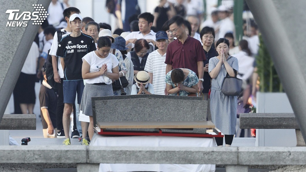 圖/達志影像美聯社 廣島原爆73週年 5萬人參加和平紀念典禮