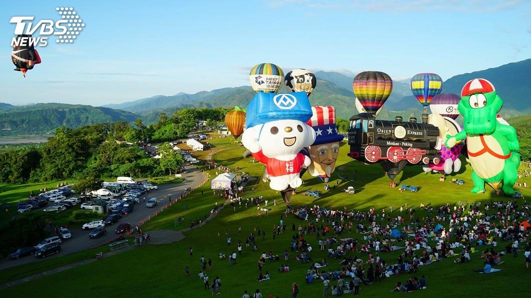 圖/中央社 台東年度必玩前十大 熱氣球嘉年華排第一