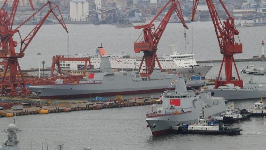 圖/翻攝自《環球時報》 來這招!陸新驅逐艦可能命名「台北號」