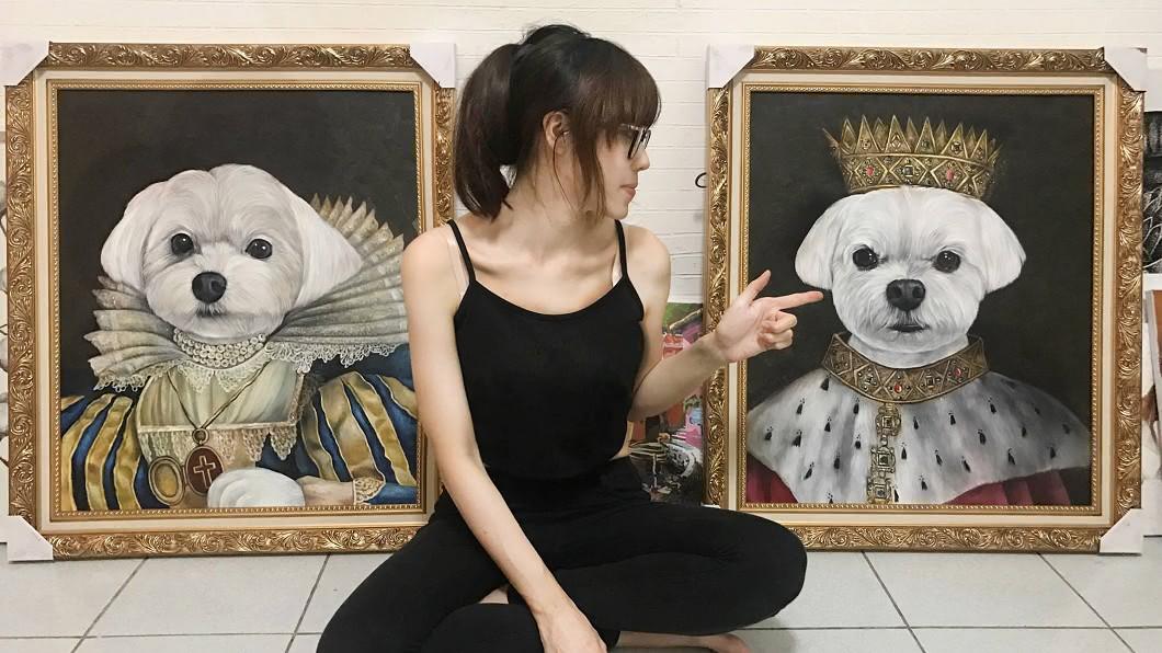 圖/蔣芳雯提供 毛孩畫家蔣芳雯 筆下凍結寵物細膩神態