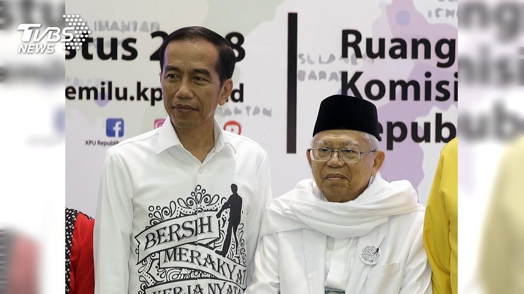 圖/達志影像美聯社 印尼總統選戰開跑 佐科威普拉伯沃登記參選