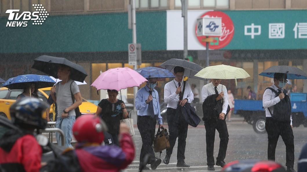 圖/中央社 鋒面至!降雨機率增、最低溫24度 一張圖看一週天氣