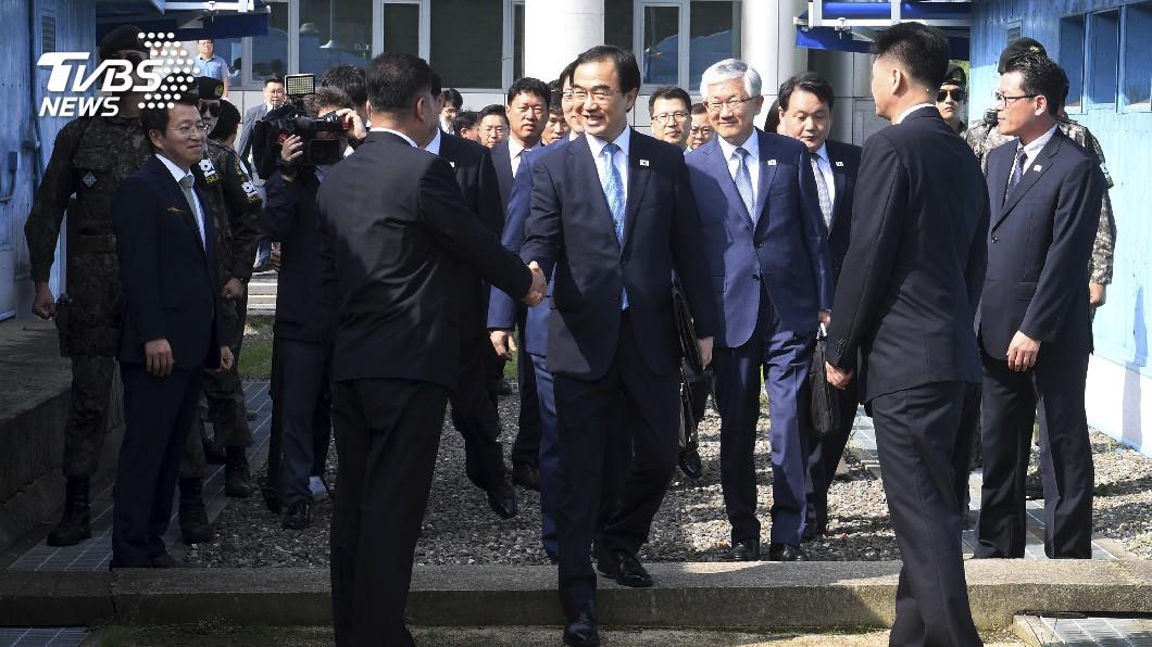 圖/達志影像美聯社 替文金三會做準備 南北韓官員舉行會談