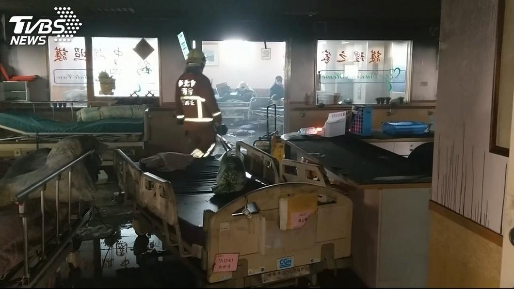 圖/TVBS 護理之家火警 亞東5病患須打強心針救命