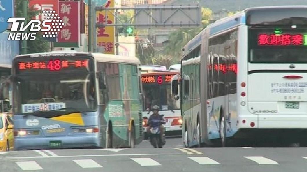 圖/TVBS資料畫面 台中市公車運量衰退 市府:微幅增減屬常態