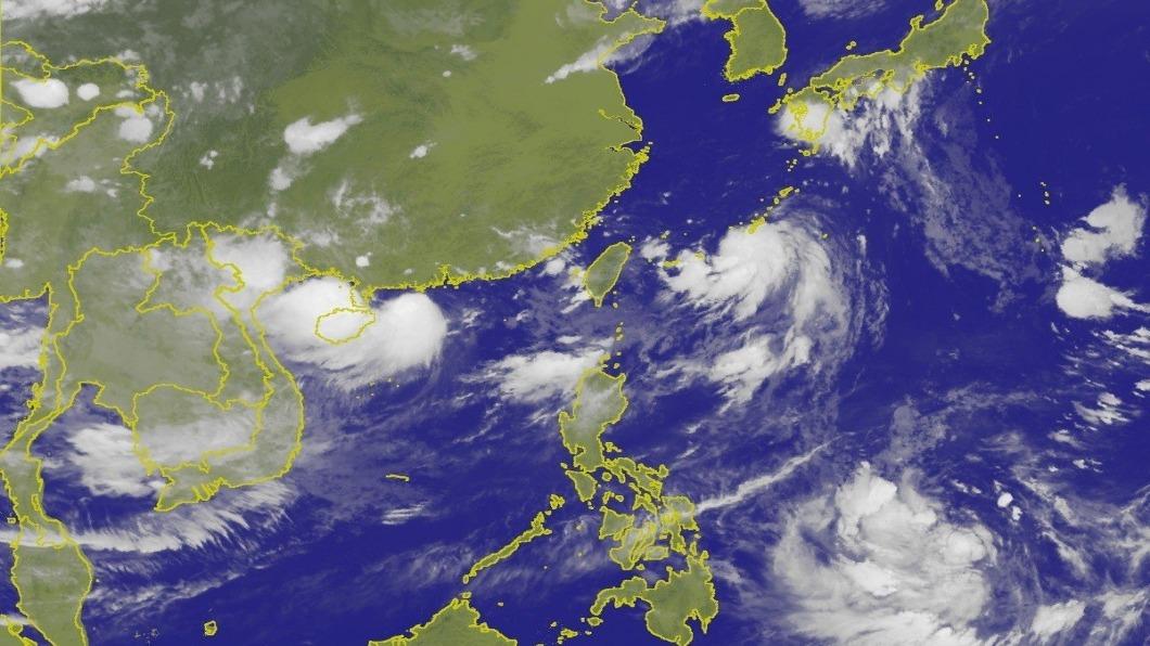 圖/翻攝自中央氣象局 東方海面熱低壓恐成颱 劇烈雨勢「至少到周五」