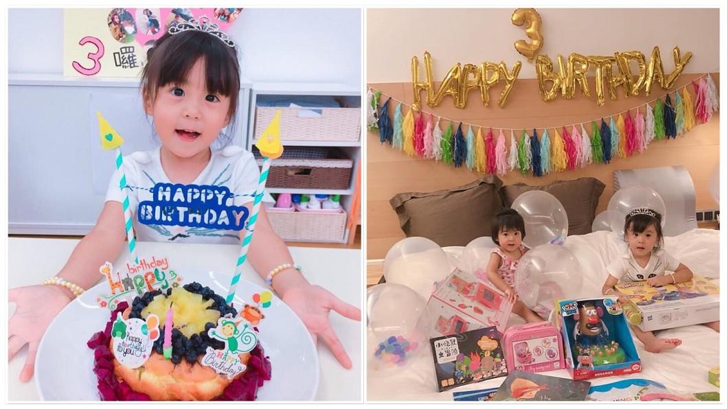 圖/翻攝自賈靜雯臉書 驚!小公主咘咘慶3歲生日 賈靜雯:歡迎我們家新成員