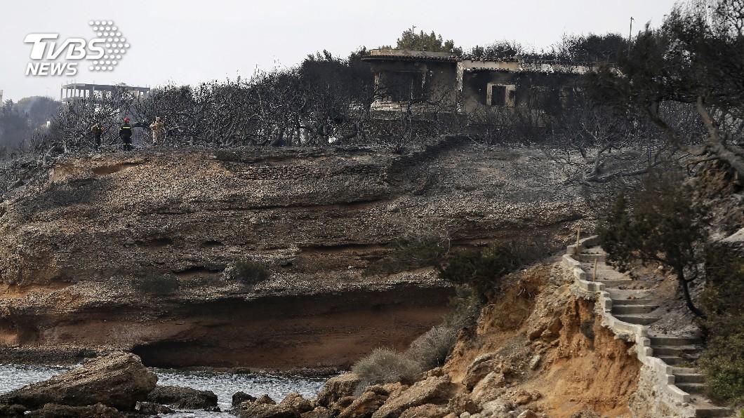 圖/達志影像美聯社 希臘奪命野火 死亡人數升至96人
