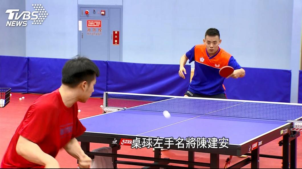 圖/TVBS 桌球出征雅加達亞運 陳建安、劉馨尹拚榮耀