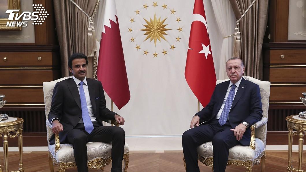 圖/達志影像美聯社 卡達挺土耳其 宣布投資150億美元