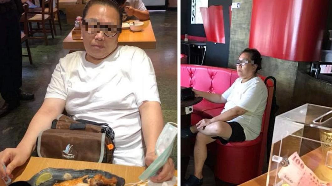 圖左為日前女子在新莊日本料理店吃霸王餐,店家所拍下之照片。圖/翻攝臉書 霸王餐慣犯!婦人爽嗑833元海鮮鍋:就是肚子餓