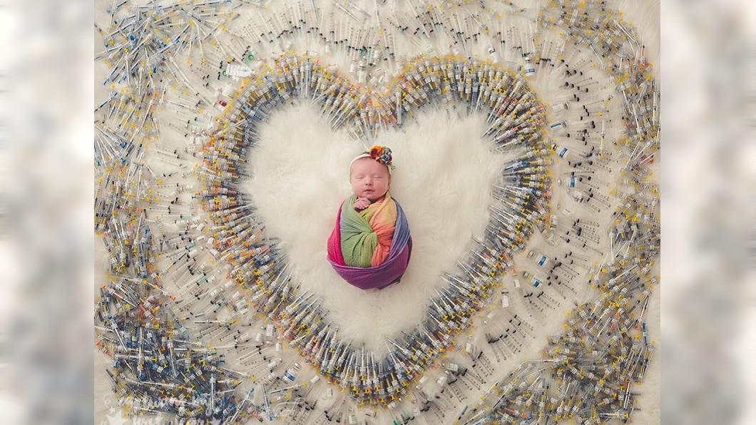 圖/翻攝自Kimberly O 1616管「針筒愛心」超震撼 女同志拚生育3次流產