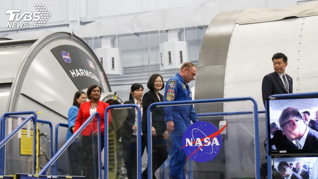 圖/中央社 台美合作福衛七號將升空 總統首訪NASA受矚目