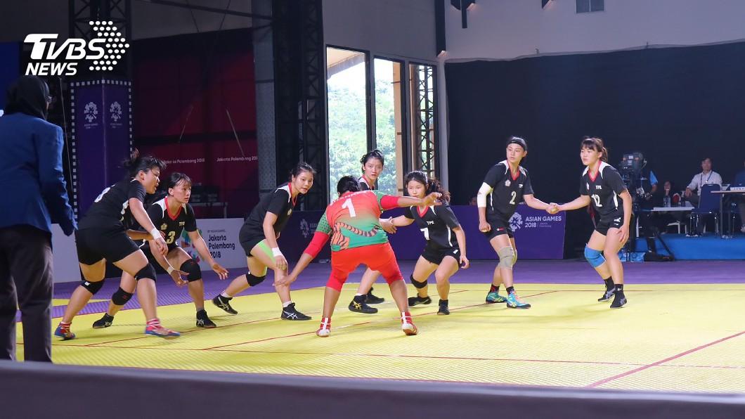 圖/中央社(卡巴迪協會提供) 女子卡巴迪晉級4強 隊史首面獎牌在望