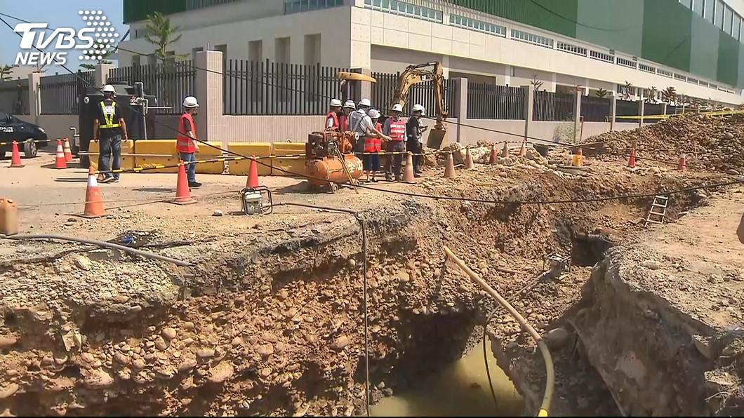 圖/TVBS 機場工安意外釀3死 檢察官現場勘驗釐權責
