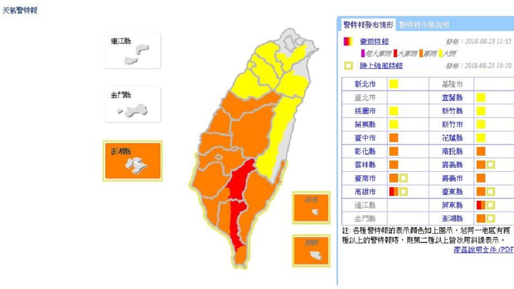 中央氣象局提醒,明天起北部雨勢將會明顯增強,未來一星期全台將都是有雨的情況。(圖/翻攝自中央氣象局網站)