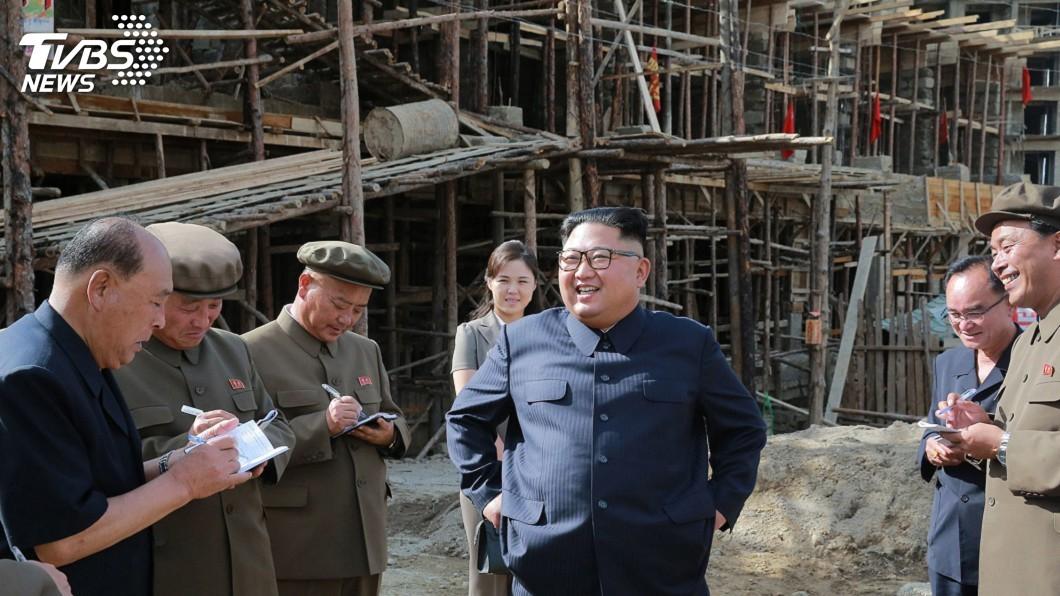 圖/達志影像美聯社 北韓慶70週年國慶 金正恩大興土木挖溝築牆