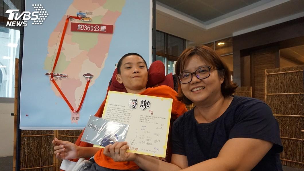圖/中央社 繞半個台灣360公里就醫路 母伴腦麻兒獲新生