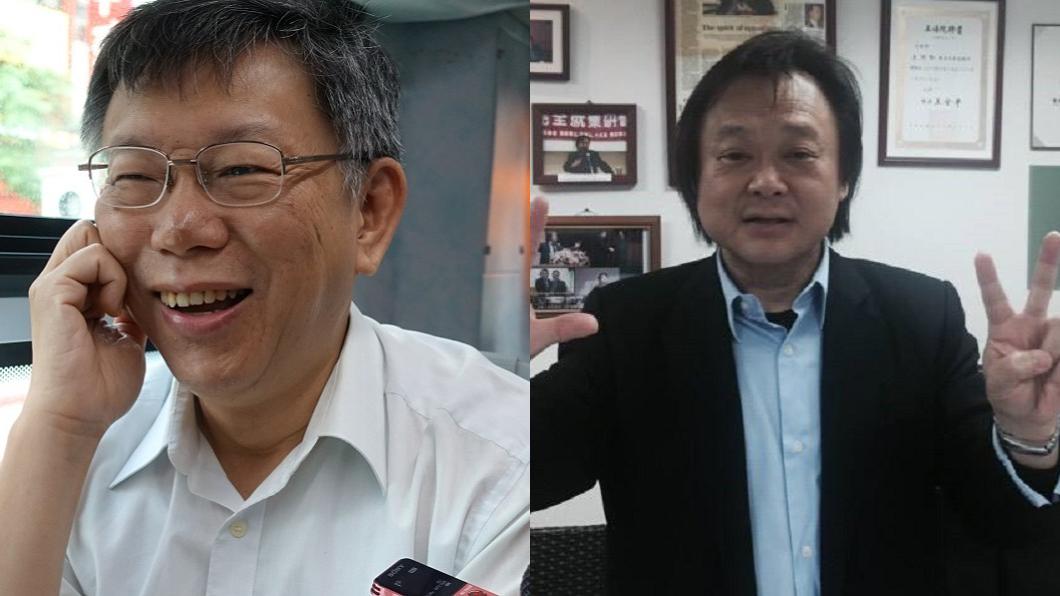 圖/中央社(左)、王世堅臉書(右) 想同框先簽柯P認同卡 王世堅不爽:我要推柯黑卡
