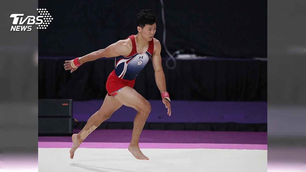 圖/中央社資料畫面 世大運體操男子單槓 唐嘉鴻勇奪金牌