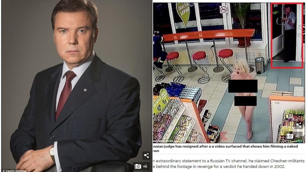 圖/翻攝自每日郵報《Daily Mail》 裸女購物跟拍男是法官 辯稱「我肚子沒那麼大」