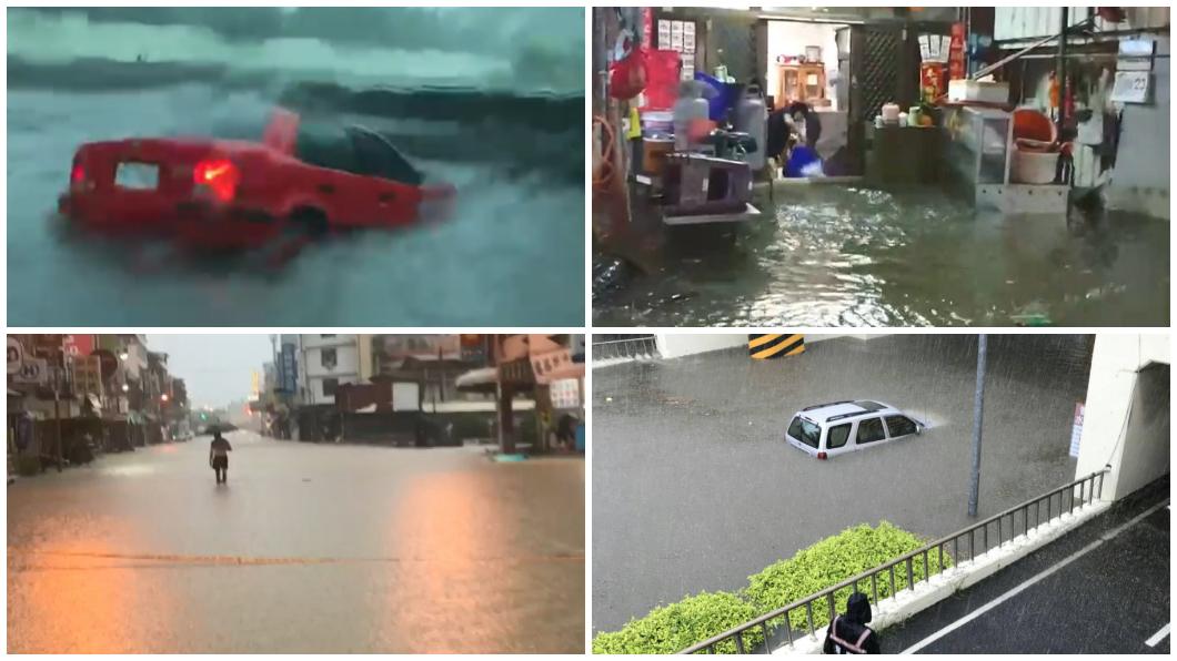 圖/TVBS資料照與翻攝網路社團 高雄台南成「水樂園」惹民怨 兩市府齊聲否認防洪失靈