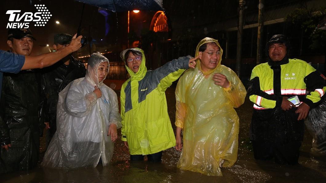 圖/中央社 雨彈狂炸! 嘉義鹿草累積雨量693.5毫米