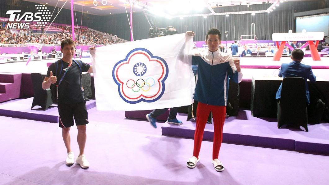 圖/中央社 亞運體操金銀銅 林育信:他們為我爭了一口氣