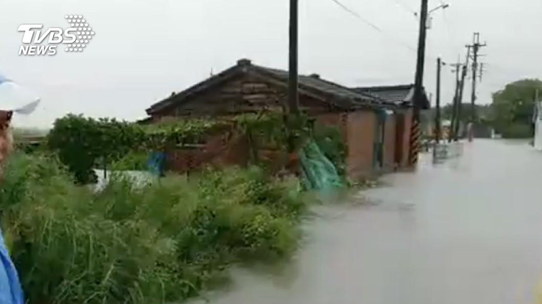 圖/中央社 雨彈強襲 雲林撤15人停電858戶搶修中