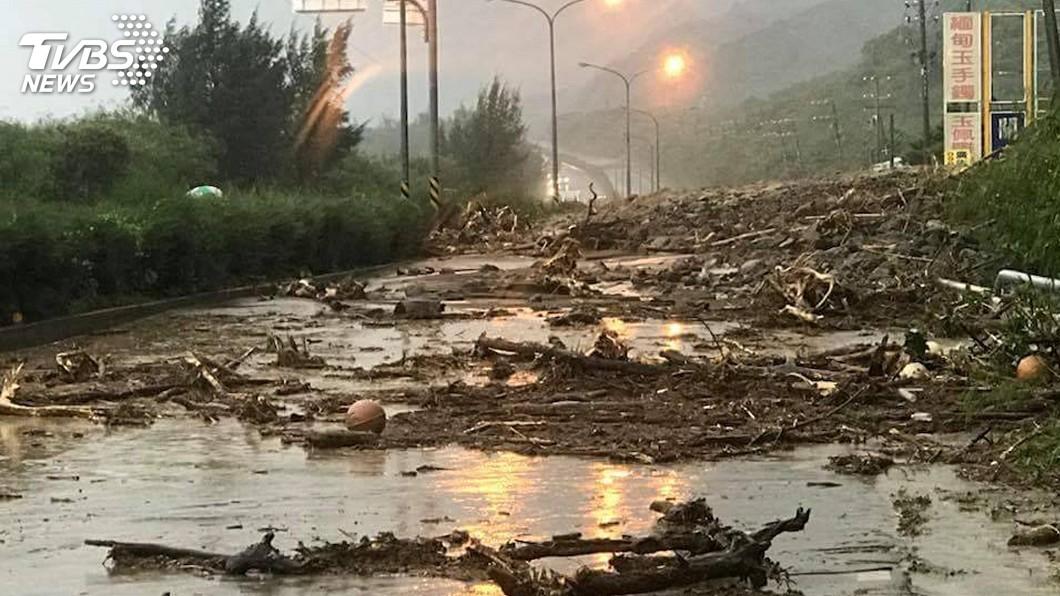 圖/TVBS資料畫面 快訊/土石流警戒! 「萬里溪底、汐止烘內、長青」小心
