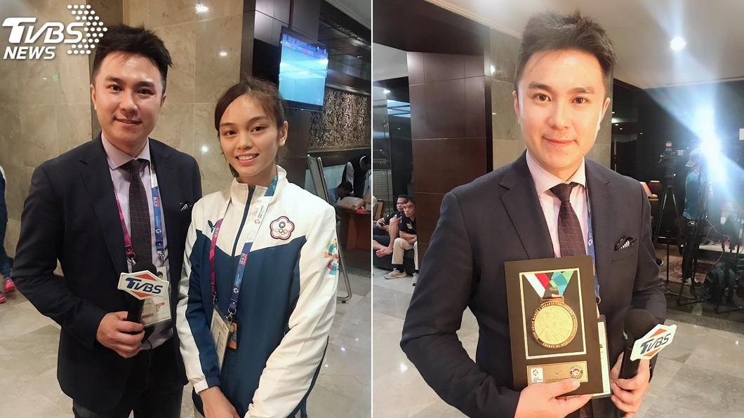 圖/TVBS TVBS亞運採訪不間斷 體育主播藍于洺意外瘦身6公斤