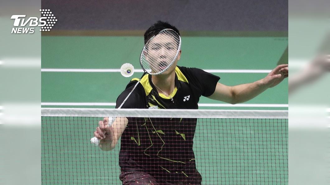圖/中央社 中華羽球男單 周天成2比1力克旺查倫