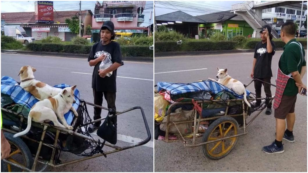 圖/อําเภอจอมทอง จังหวัดเชียงใหม่臉書 帶女友骨灰徒步1541公里 癡情男:我愛她的方式