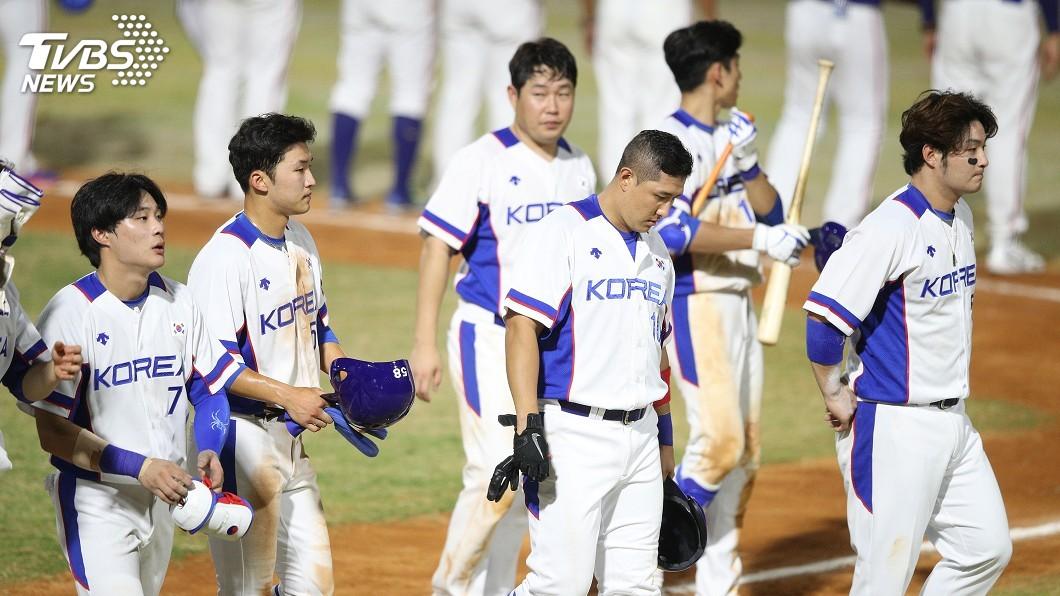 南韓亞運棒球代表隊。圖/中央社 金牌數約上屆一半! 韓媒痛批:印尼食物害選手「落賽」