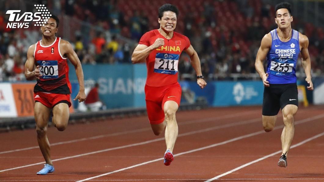 圖/達志影像美聯社 亞運男子100公尺短跑 楊俊瀚收下第5名