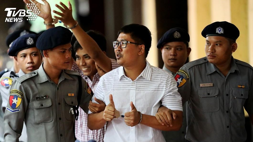 圖/達志影像路透社 路透記者違反機密法案 緬甸法官延後宣判