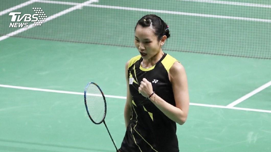 圖/中央社 亞運羽球女單 戴資穎直落二闖進冠軍賽