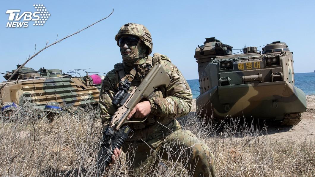 圖/達志影像美聯社 非核化鬧僵 美暗示可能恢復與南韓大型聯合軍演