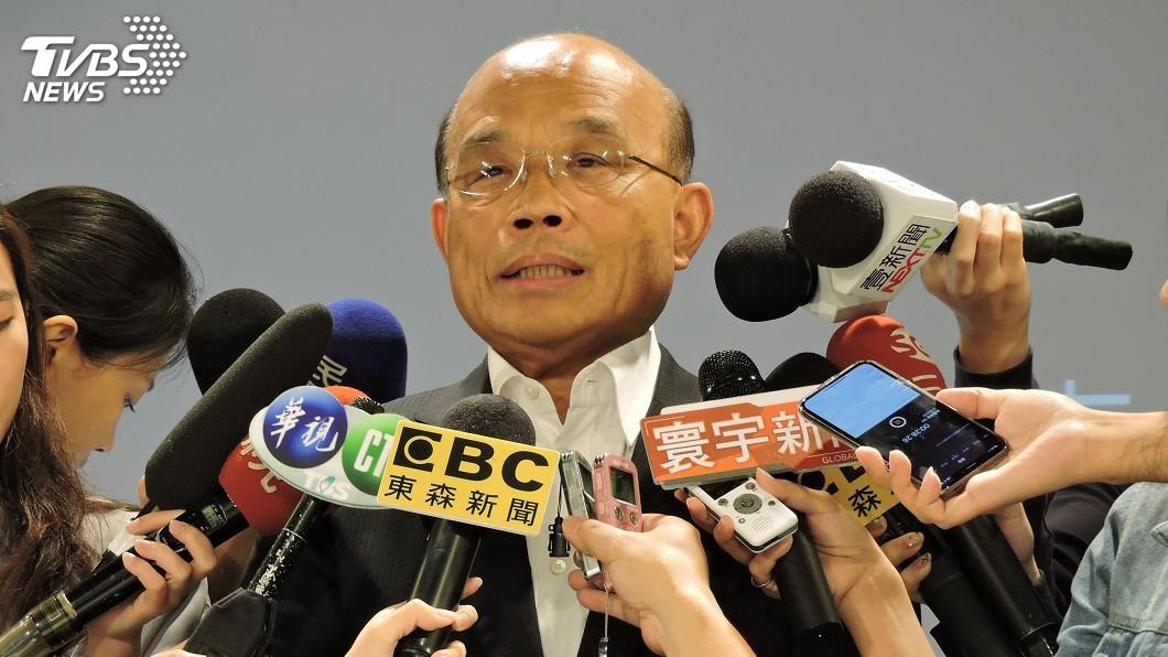 圖/中央社 競選辦公室未完成變更就動工遭罰 蘇貞昌道歉