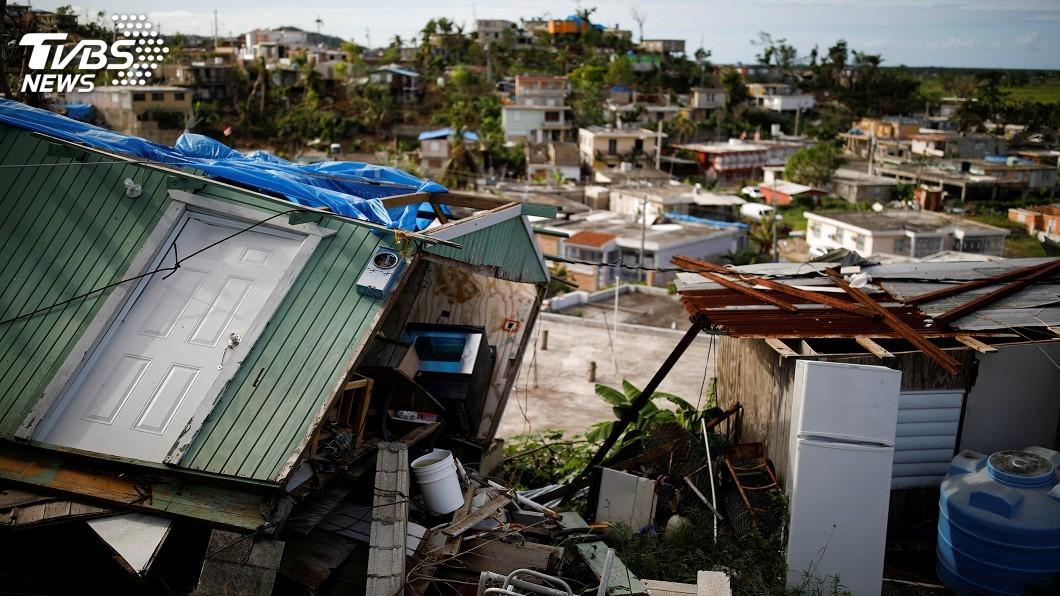 圖/達志影像路透社 從64死飆到2975人亡 颶風瑪莉亞重創波多黎各