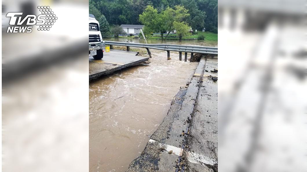 威斯康辛州多處嚴重淹水。圖/達志影像美聯社