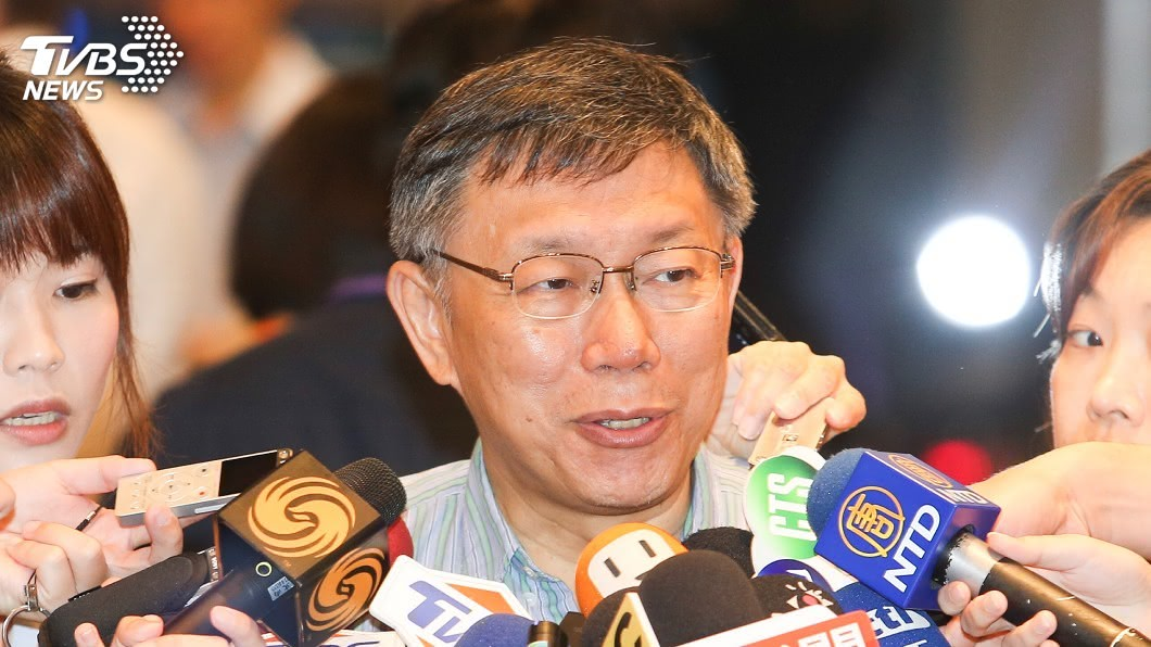 圖/中央社 談2020大選 柯文哲:韓國瑜是裝成庶民的樣子