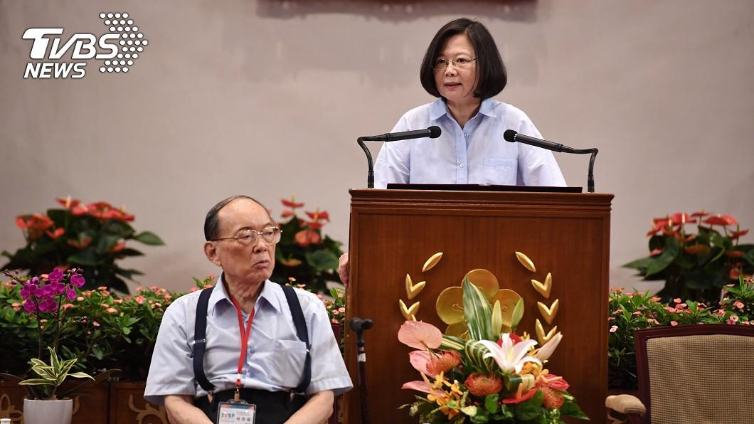 圖/中央社 科展生反映中國重視AI 蔡總統提醒教育部注意