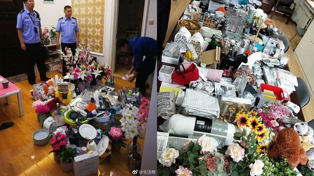 圖/翻攝自微博 男偷IKEA百件商品布置新家 警搜走贓物「他家空了」