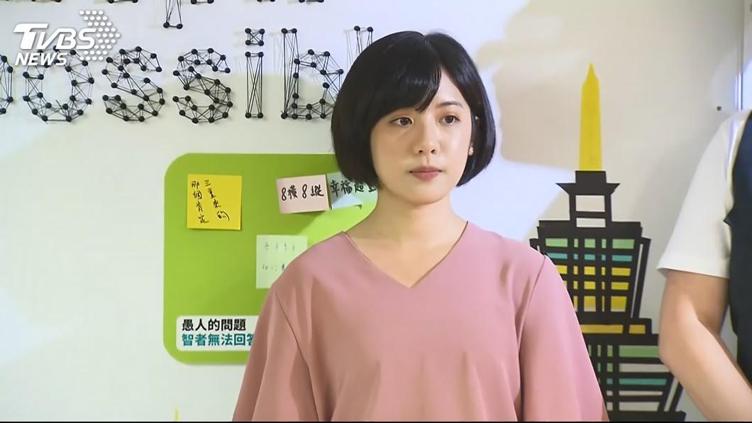 圖/TVBS 「學姐」黃瀞瑩爆紅 BBC分析:台灣選舉綜藝化