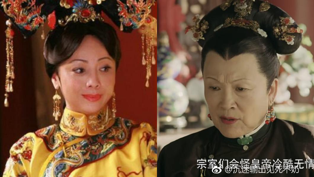 傳《延禧攻略》裡皇太后的角色,原先屬意鄧萃雯(左)出演。圖/翻攝自微博