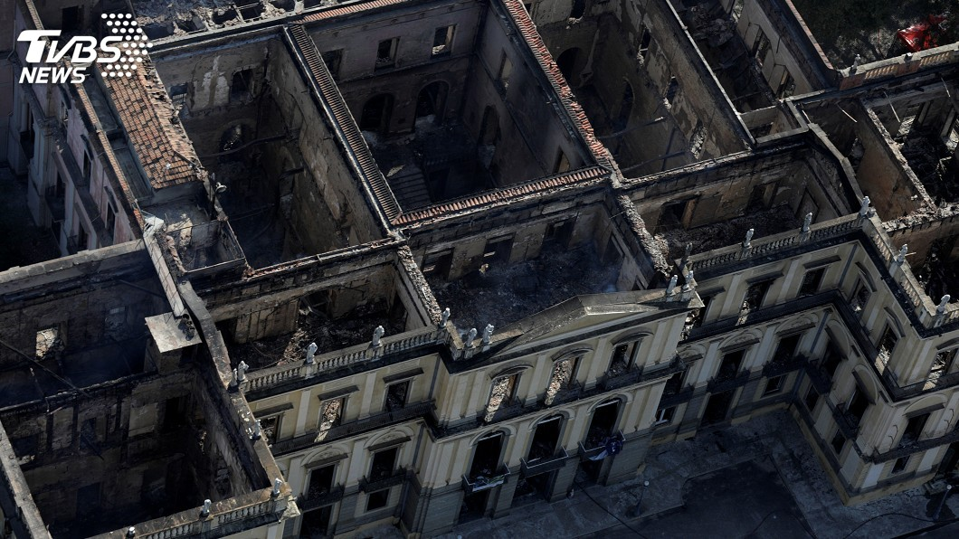 圖/達志影像路透社 巴西博物館大火 痛失萬年人類化石